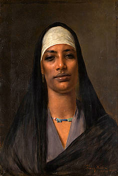 Franz Kosler - Egyptian Woman with a Lapis Necklace
