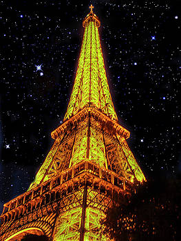 Eiffel Tower at night by Kirk Sewell
