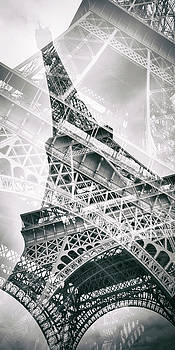 Melanie Viola - Eiffel Tower Double Exposure - Panorama