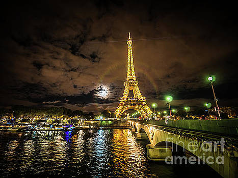 Eiffell Tower At Night after the Storm passed by PorqueNo Studios