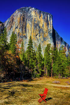 El Capitan And Red Chair by Garry Gay