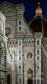 Wayne Moran - el Duomo The Florence Italy Cathedral at Night Vertical