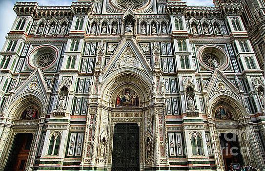 Wayne Moran - el Duomo The Florence Italy Cathedral Front Facade Details