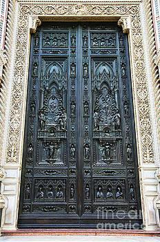 Wayne Moran - el Duomo The Florence Italy Cathedral Main Door Details