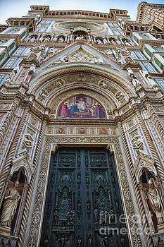 Wayne Moran - el Duomo The Florence Italy Cathedral Main Entrance Details