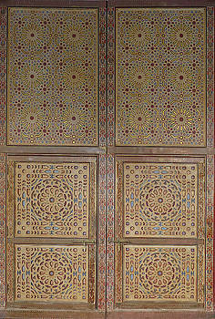 Elaborate decorated doors of the Moulay Ali Cherif Mausoleum by Steve Estvanik