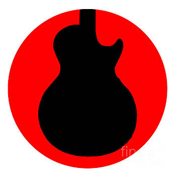 Electric Guitar Round Icon by Bigalbaloo Stock