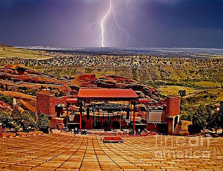 Electrified Red Rocks Ampitheater- Denver by Sherry Little Fawn Schuessler