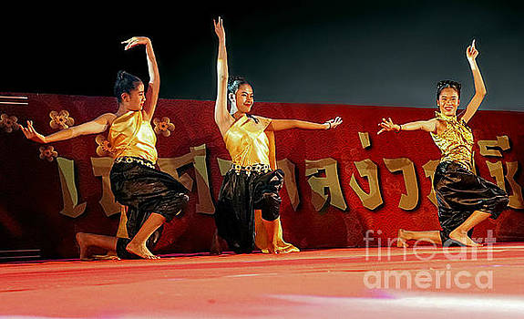 Elegant Dancers of Isaan by Ian Gledhill