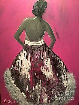 Elegant Marble Silk Dress by Lisa Gilyard