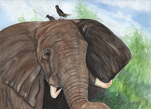 African Elephant and Friends by Dorothy Riley