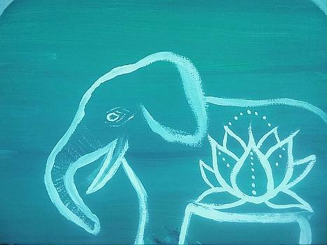 Elephant and Lotus  by Vale Anoa'i