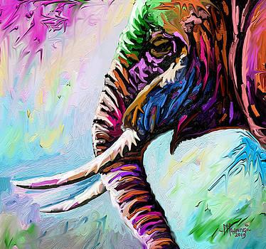 Elephant Profile by Anthony Mwangi