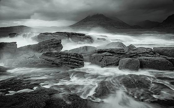 Elgol Wavebreak 3 - Mono by John Frid