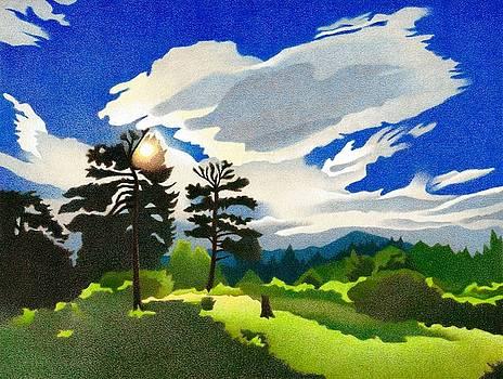 Elk Ridge Twilight by Dan Miller
