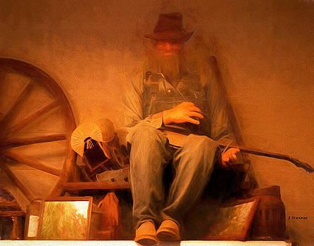 Ellijay Farmer Playing His Dulcimer by Jennifer Stackpole