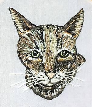 Embroidery cat by Stephanie Callsen