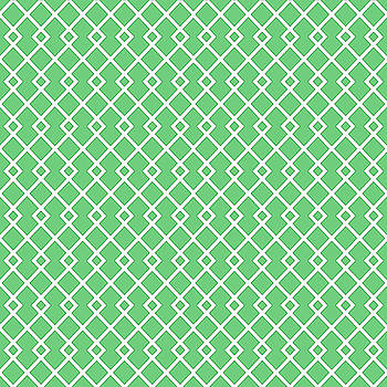 Emerald Green Diamond Pattern by Ross