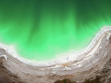 Emerald lake top view by Lukasz Szczepanski