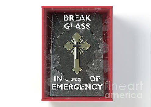 Emergency Red Box With Bible by Allan Swart