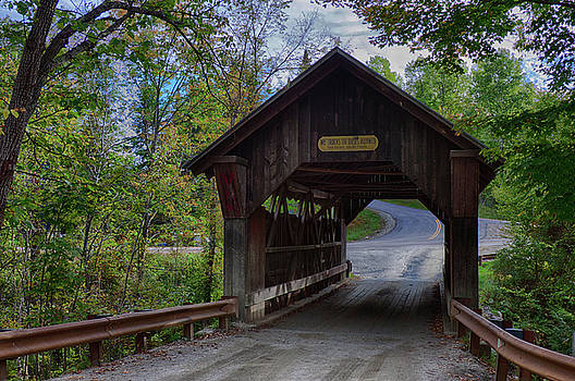 Emily's covered bridge in Stowe Vermont by Jeff Folger