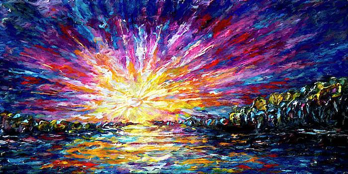 Enchanted Sunrise  by OLena Art - Lena Owens