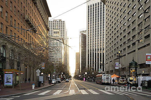End of Market Street at San Francisco Embarcadero Looking Towards The Setting Sun DSC6893 by Wingsdomain Art and Photography