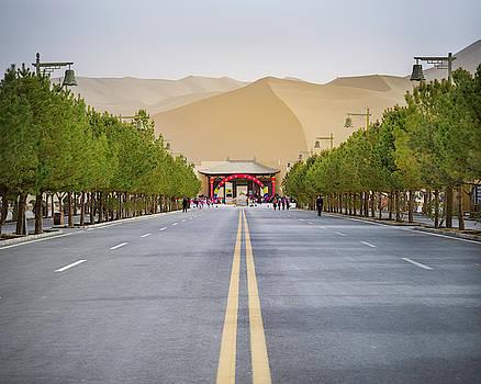 End of the Road Gobi Desert Dunhuang Gansu China by Adam Rainoff