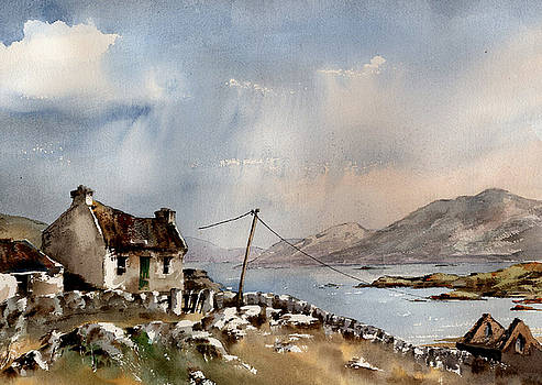 Val Byrne - End of the road, Inishboffin,