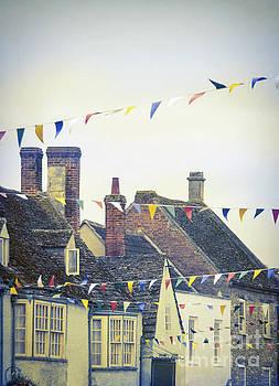 English Village Bunting by Jill Battaglia
