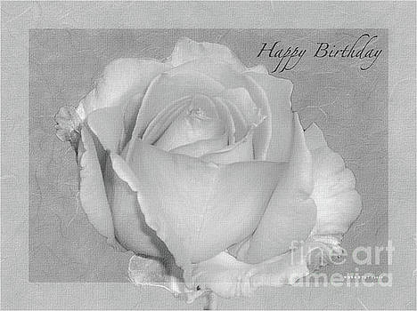 Enjoy Happy Birthday Roses BW by Mona Stut