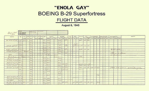 Daniel Hagerman - ENOLA GAY B-29 FLIGHT DATA - HIROSHIMA ATOMIC BOMBING 1945