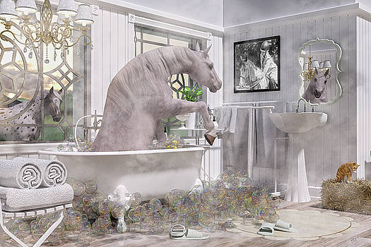 Equine Bubble Bath Beauty Time  by Betsy Knapp