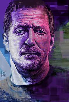 Eric Clapton Portrait by Garth Glazier
