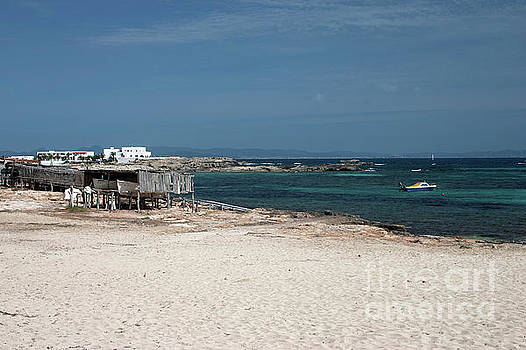 Es Pujols Beach on the island of Formentera by John Edwards
