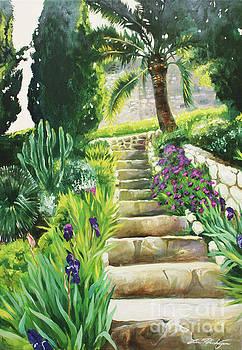 Escaliers a Villefranche by Lin Petershagen