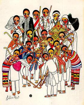 Ethiopian Christmas by Yoseph Abate