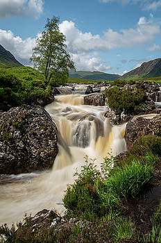 Etive Mor waterfall in the highlands of Scotland.   by Michalakis Ppalis