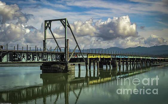 Eureka Slough Bridge by Mitch Shindelbower