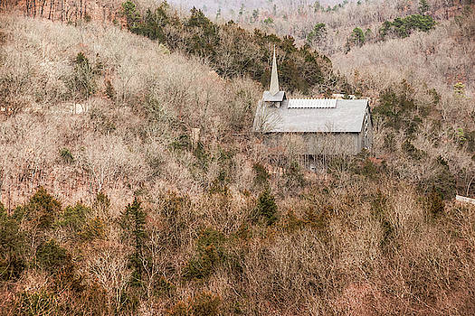 Eureka Springs Thorncrown Chapel Mountain Landscape by Gregory Ballos