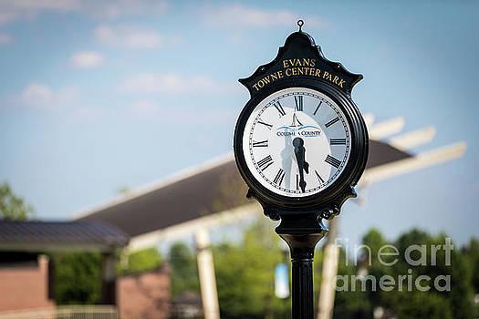 Evans Towne Center Park Clock - Evans GA by Sanjeev Singhal