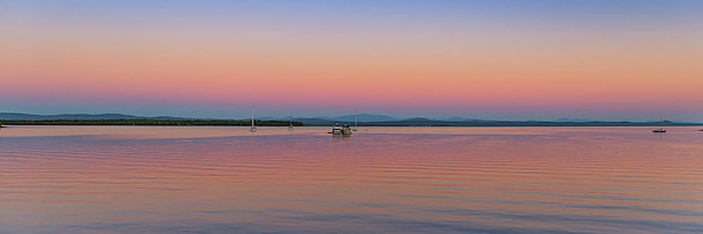 Evening on the Lake Panoramic by Tim Kirchoff