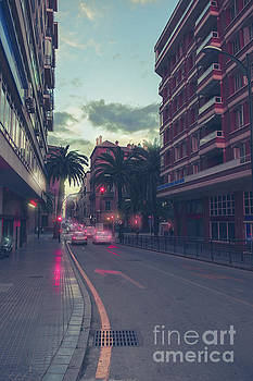 Ariadna De Raadt - evening street in Malaga