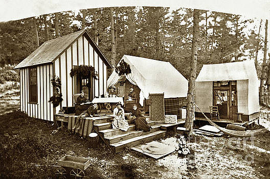 California Views Archives Mr Pat Hathaway Archives - Everett Pomeroy family cabin and tents on 7th St. Pacific Grove