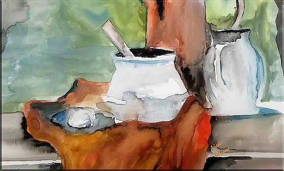 Ewer Egg And Sugar Bowl Painting by Lisa Kaiser