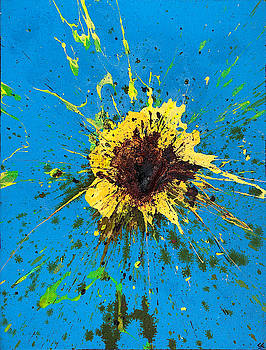 Explosion in Yellow #3 by Chris Crewe