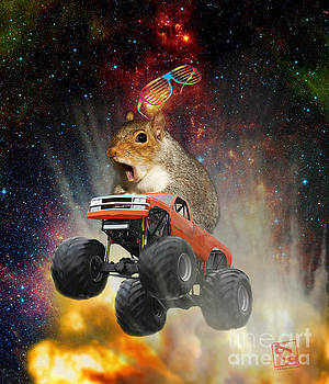 Erik Paul - Extreme Crazy Squirrel Driving A Monster Truck Jumping Over An Explosion With Galaxy