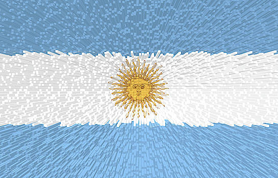 Extruded Flag of Argentina by Grant Osborne