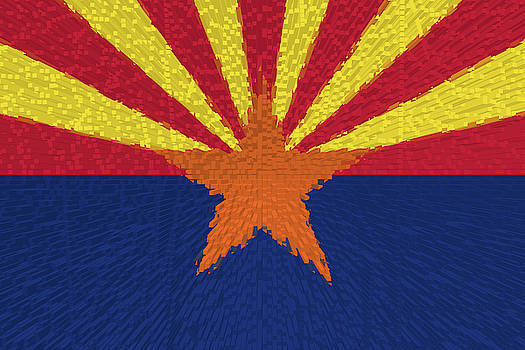 Extruded flag of Arizona by Grant Osborne