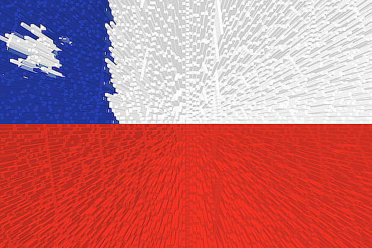 Extruded Flag of Chile by Grant Osborne